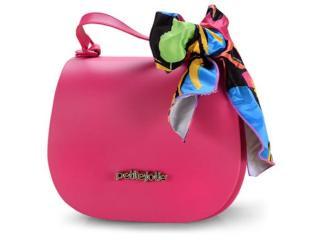 Bolsa Feminina Petite Jolie Pj4360 Pink/preto - Tamanho Médio