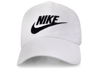 Boné Masculino Nike 626305-101 Futura Washed Branco - Tamanho Médio
