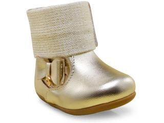 Bota Fem Infantil Klin 153.016 Dourado - Tamanho Médio