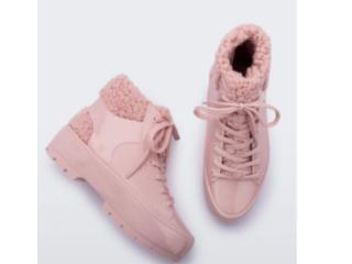 Bota Feminina Melissa 33318 16476 Fluffy Sneaker Rosa - Tamanho Médio