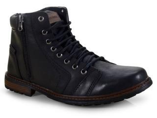 Bota Masculina Ped Shoes 500-a Preto/café - Tamanho Médio