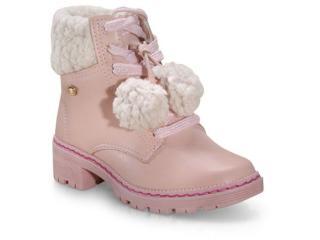 Bota Fem Infantil Pink Cats V1741 Quartzo/nude - Tamanho Médio