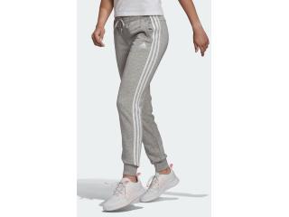 Calça Feminina Adidas Gm8735 Essentials Slim 3 Listras Cinza - Tamanho Médio