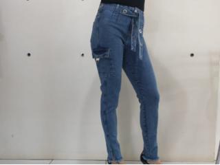 Calça Feminina Carmenta 061327 Jeans - Tamanho Médio