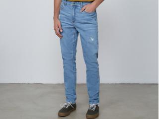 Calça Masculina Dzarm Zu7t 1bsn Jeans Claro - Tamanho Médio