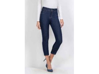 Calça Feminina Kacolako K37813 Jeans Escuro - Tamanho Médio