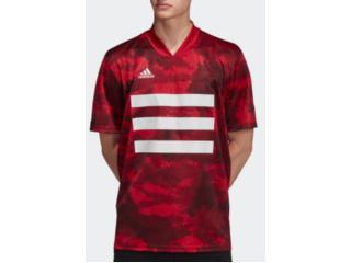 Camisa Masculina Adidas Dz9537 Tan Aop Jsy Vermelho - Tamanho Médio