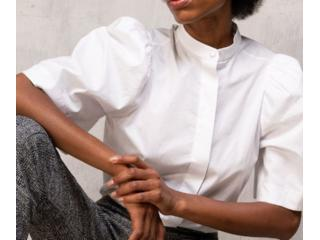 Camisa Feminina Borda Barroca 10011205 Branco - Tamanho Médio