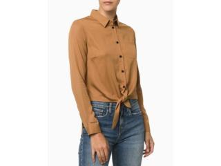 Camisa Feminina Calvin Klein Cf1of03cl910 Caqui Médio - Tamanho Médio
