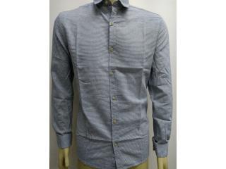 Camisa Masculina Calvin Klein Cm0oc03cl799 Off White/azul - Tamanho Médio