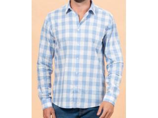 Camisa Masculina Colcci 310103711 Vc129 Azul Estampado - Tamanho Médio