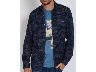 Camisa Masculina Colcci 310103799 Vc81 Azul/branco - Tamanho Médio