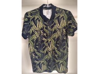 Camisa Masculina Colcci 250102219 Vc62 Marinho/verde - Tamanho Médio
