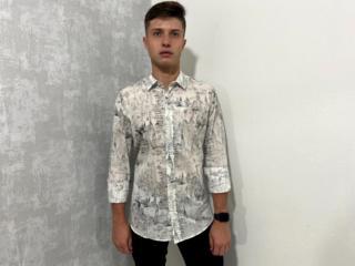 Camisa Masculina Colcci   310103498 Vc41 Off White/preto - Tamanho Médio