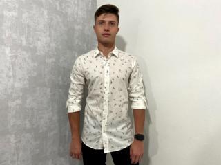 Camisa Masculina Colcci 310103389 Vc37 Branco Estampada - Tamanho Médio