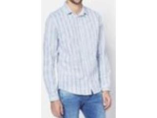 Camisa Masculina Colcci 310102965 Vc67 Azul/branco - Tamanho Médio