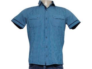 Camisa Masculina dj 01021739 Xadrez Marinho/verde - Tamanho Médio