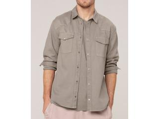 Camisa Masculina Dzarm Zil4 1asn Bege - Tamanho Médio