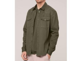 Camisa Masculina Dzarm Zil4 Eacsn Verde - Tamanho Médio
