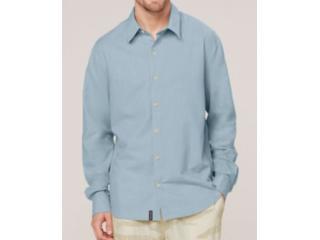 Camisa Masculina Dzarm Zilh Av7en Azul - Tamanho Médio