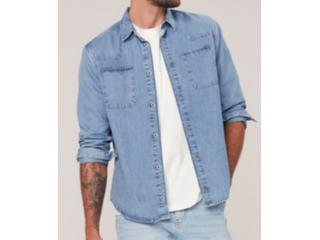 Camisa Masculina Dzarm Zilj 1bsn Jeans Claro - Tamanho Médio