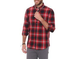 Camisa Masculina Ellus 51b7305  Vermelho/preto - Tamanho Médio