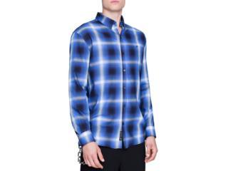 Camisa Masculina Ellus 51b7305 00 Azul/preto - Tamanho Médio