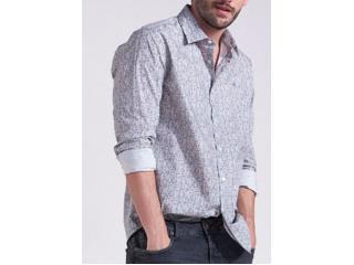 Camisa Masculina Forum 314602950 Off White Estampado - Tamanho Médio
