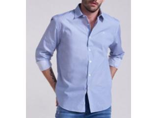 Camisa Masculina Forum 314602952  Vf200 Azul/branco - Tamanho Médio