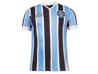 Camisa Masculina Grêmio U31g514219.312 Of.1  Retrô 1981 Azul/preto/branco - Tamanho Médio