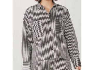 Camisa Feminina Hering Hf1e 1aen Preto/branco - Tamanho Médio