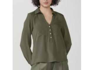 Camisa Feminina Hering K458 Eacsi  Verde - Tamanho Médio