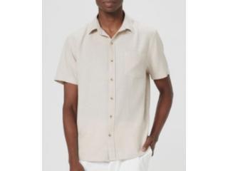 Camisa Masculina Hering K48r 1hsi  Bege - Tamanho Médio