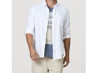 Camisa Masculina Hering K48f N0asi Off White - Tamanho Médio