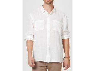Camisa Masculina Hering Ktv7 1asi Off White - Tamanho Médio