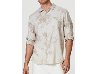Camisa Masculina Hering Ktz4 1fsi Bege Estampado - Tamanho Médio