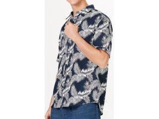 Camisa Masculina Hering Ktz1 1bsi Marinho/branco - Tamanho Médio