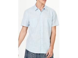 Camisa Masculina Hering H2ga Se11en Azul Claro - Tamanho Médio