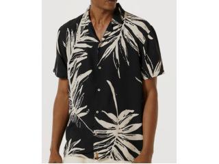 Camisa Masculina Hering H2k2 1hen Preto Floral - Tamanho Médio