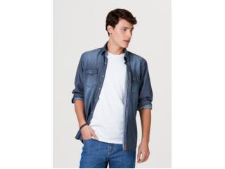 Camisa Masculina Hering H2hc Pdiej Jeans - Tamanho Médio