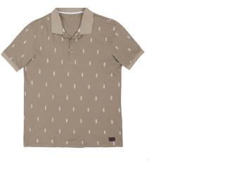 Camisa Masculina Hering 3m25 2jen Bege Escuro - Tamanho Médio