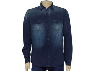 Camisa Masculina Index 07.01.000290 Jeans - Tamanho Médio