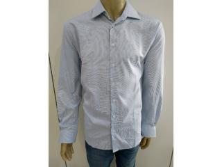 Camisa Masculina Individual 53.03.1075.02 Azul/branco - Tamanho Médio