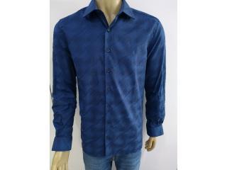 Camisa Masculina Individual 53.03.0989 48 Azul - Tamanho Médio