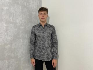 Camisa Masculina Individual 53.02.0555.94 Cinza/preto - Tamanho Médio