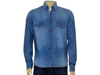 Camisa Masculina Individual 302.02179.003 Jeans - Tamanho Médio