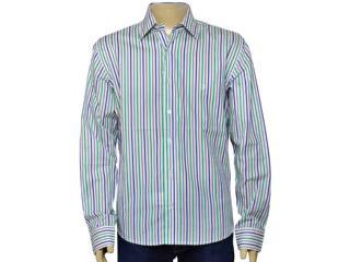 Camisa Masculina Individual 302.211.540 Branco/azul - Tamanho Médio