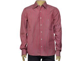 Camisa Masculina Individual 302.25775.001 Listrado Vermelho/branco - Tamanho Médio