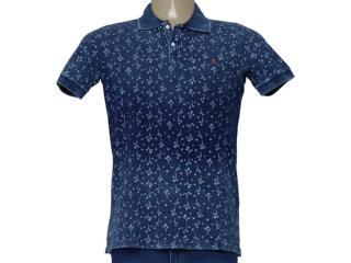 Camisa Masculina King & Joe Po09305 Jeans Estampado - Tamanho Médio