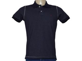 Camisa Masculina King & Joe Po09109 Marinho/branco - Tamanho Médio
